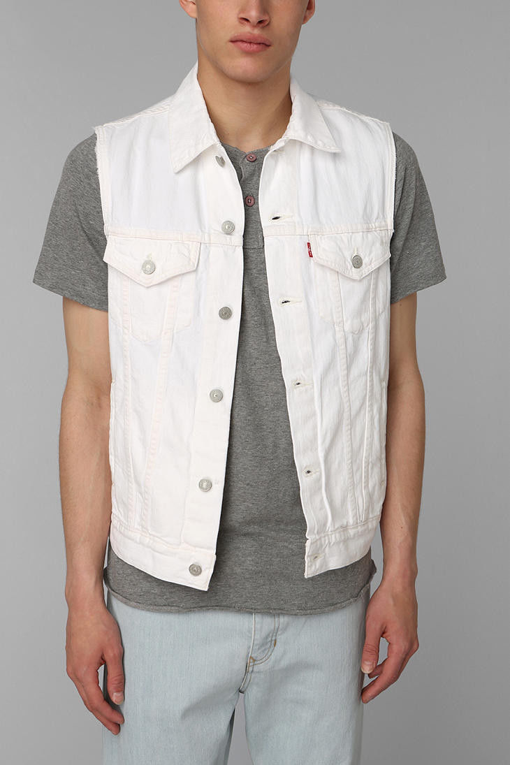 White Jean Jacket Vest | Outdoor Jacket